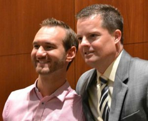 Nick Vujicic and Dave Gambrill